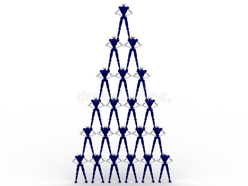 peolple πυραμίδα απεικόνιση αποθεμάτων