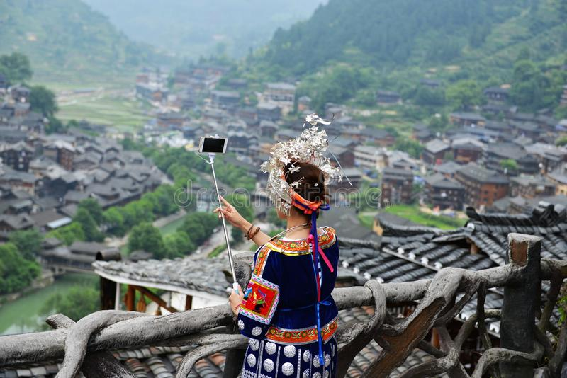 Tribes of China the tribe miao tribe, gejia people. Peolple from different tribes in China dressed in traditional costumes, the miao tribe, tribe, gejia people stock photos