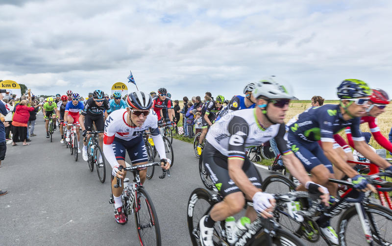 Download The Peolton At The Start Of Tour De France 2016 Editorial Stock Photo - Image: 92167588