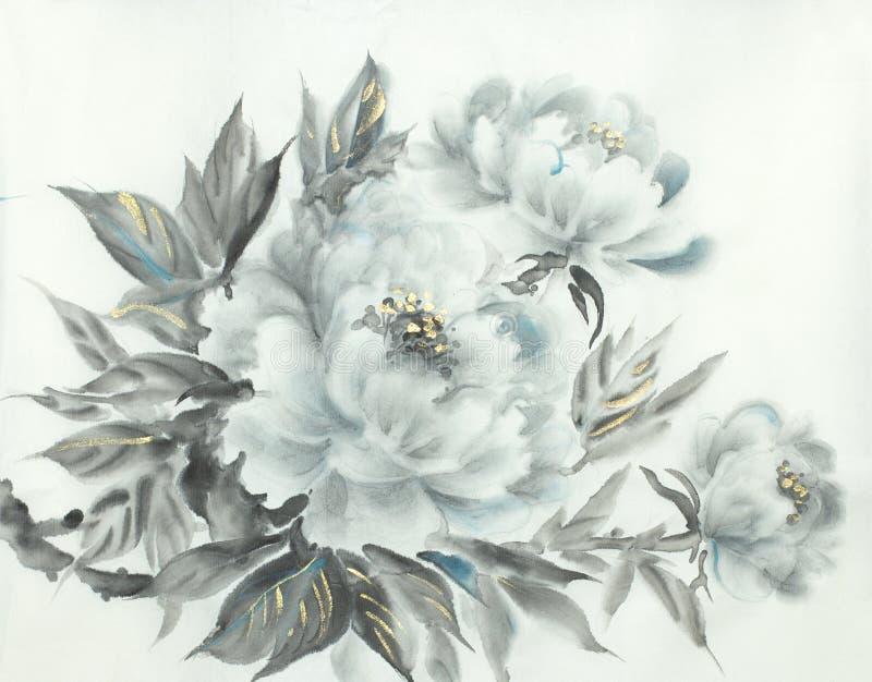 Peonía blanca delicada libre illustration