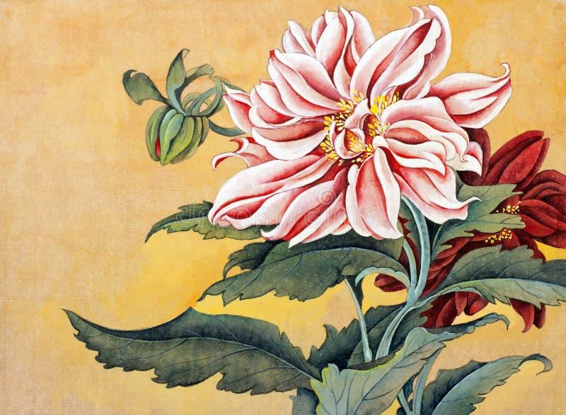 Peonía rosada y roja libre illustration