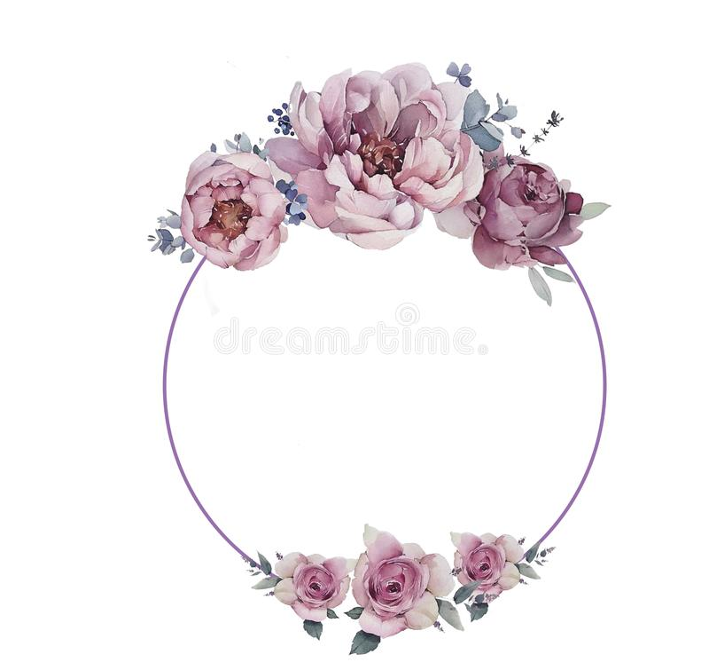 Peon logo with flowers royalty free stock image
