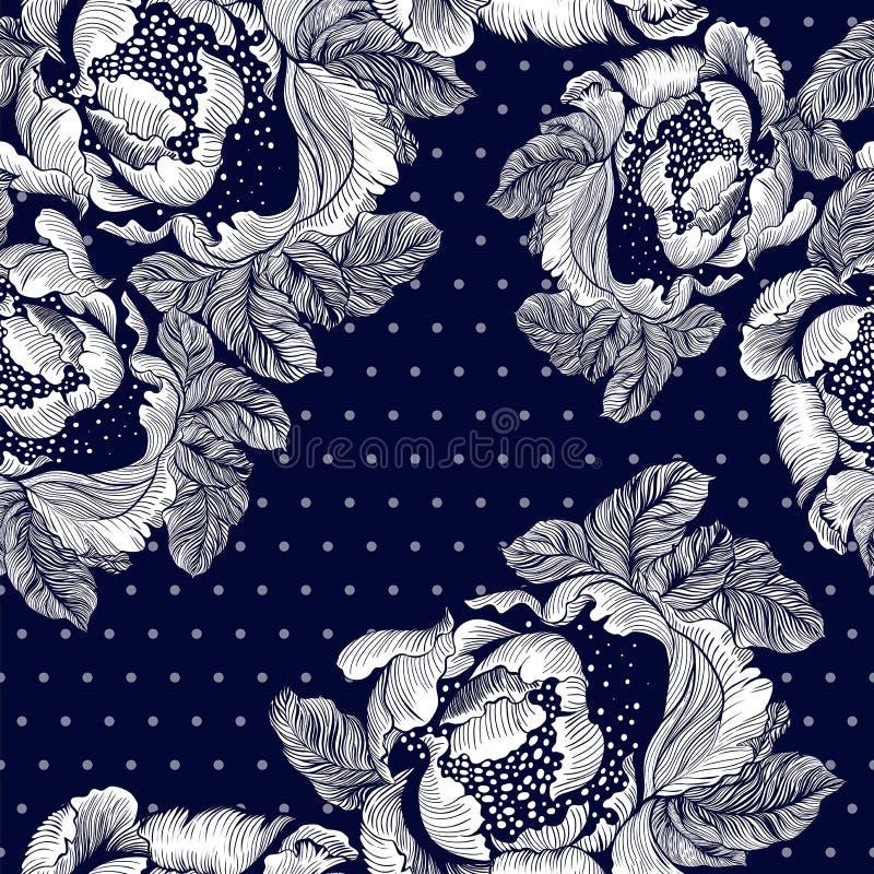 peonies Предпосылка вектора Абстрактные обои с флористическими мотивами картина безшовная обои иллюстрация штока