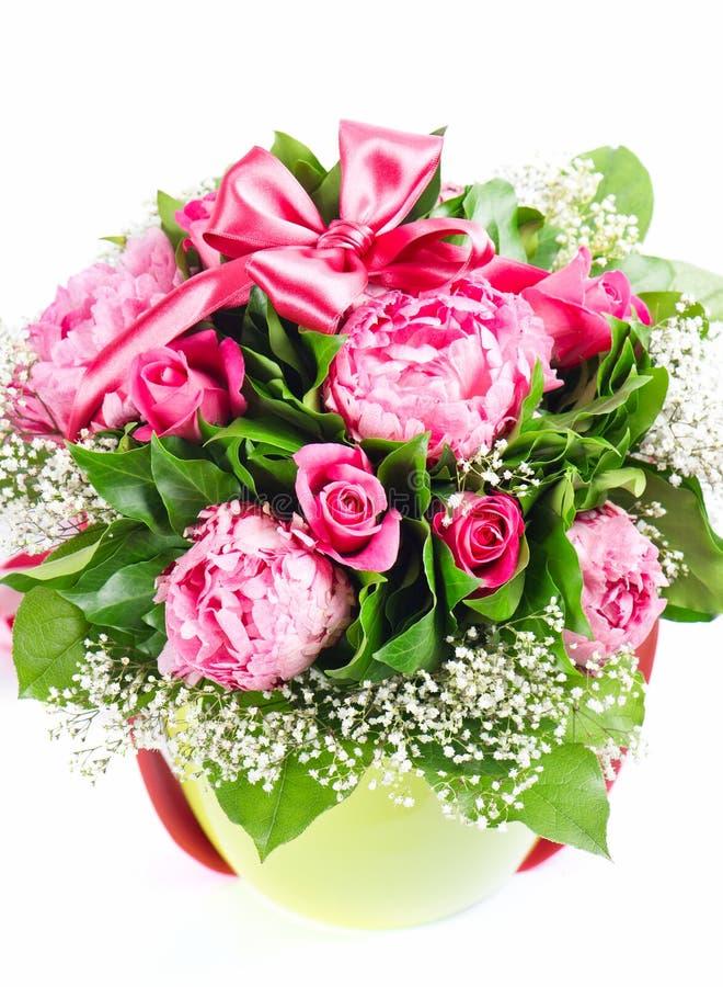 Peonies e rosas foto de stock
