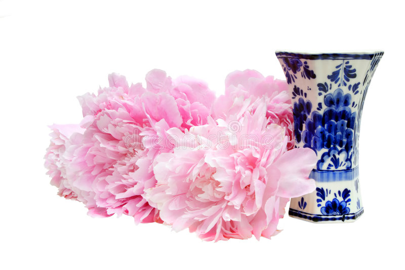 Download Peonies & Vase Royalty Free Stock Photos - Image: 4039278