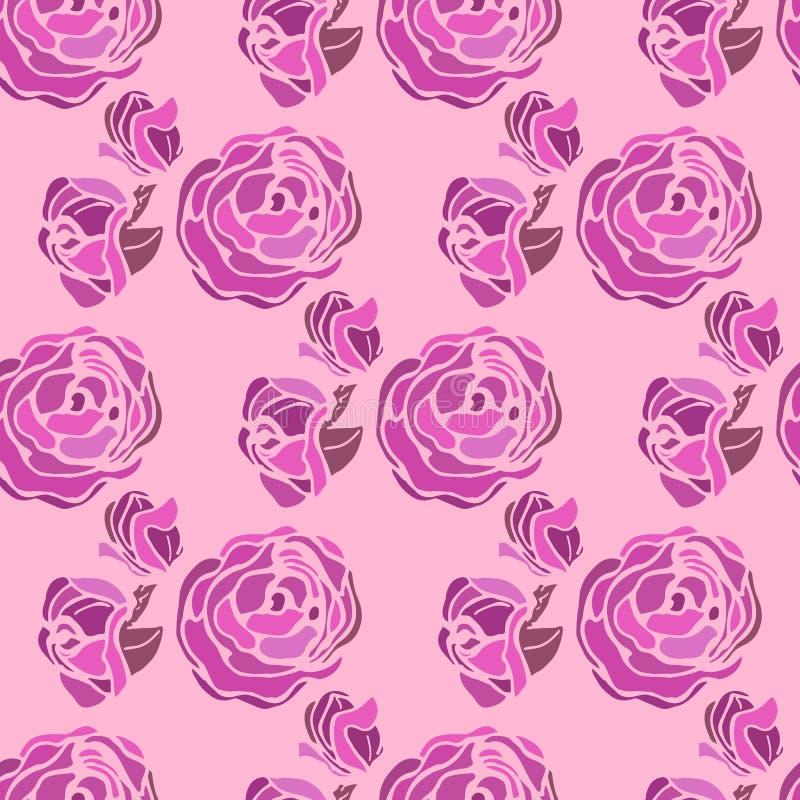 Peony de la ilustración Fondo con las flores y las rosas Modelo inconsútil libre illustration