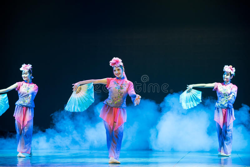 Download Peony Flowers Chinese Folk Dance Editorial Photography