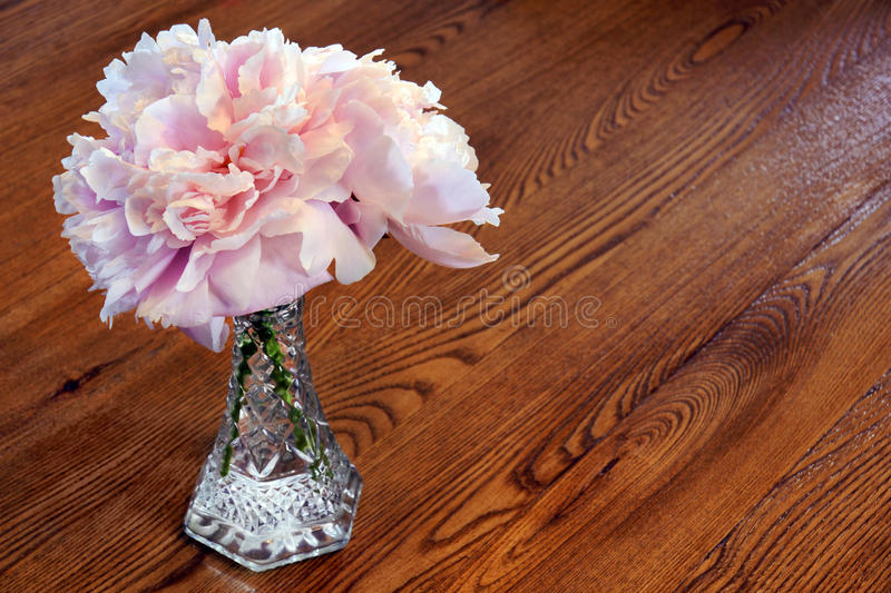 Download Peony Flowers On Wooden Table Stock Photo - Image: 20496480