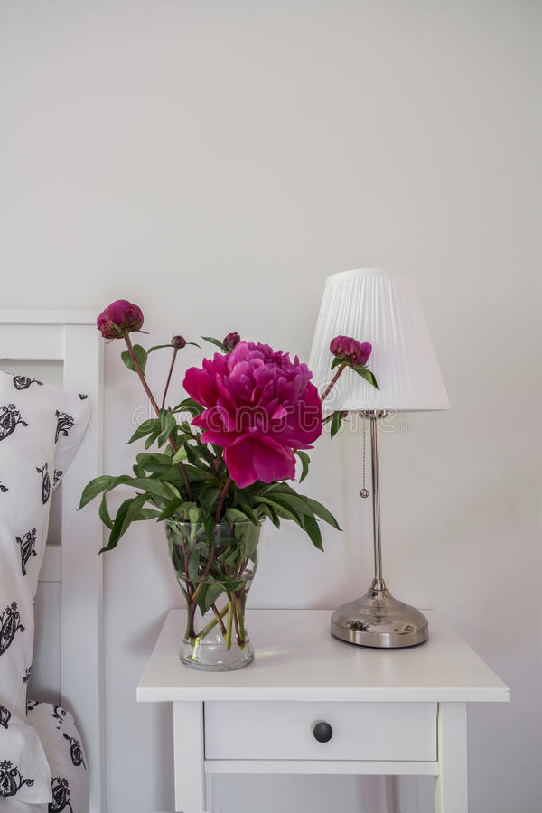 Peony in the vase stock photography