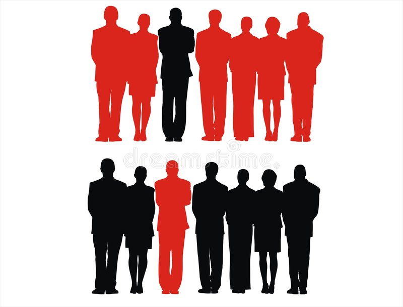 People. Men, silhouette, people, crowd, group vector illustration