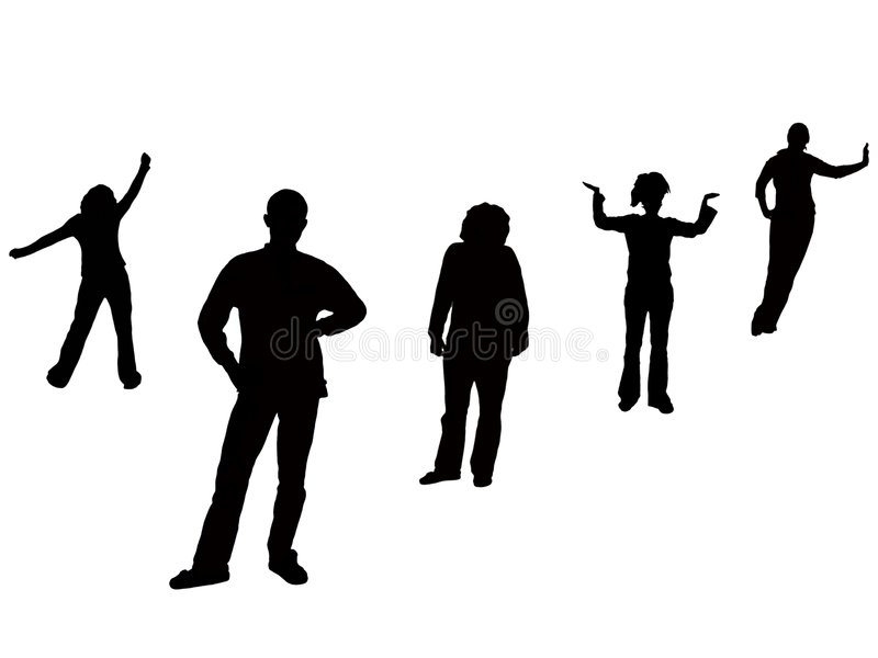 People. Young people on the background stock illustration
