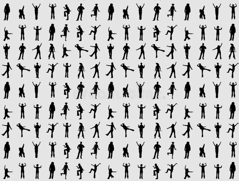 People. The people on the white background stock illustration
