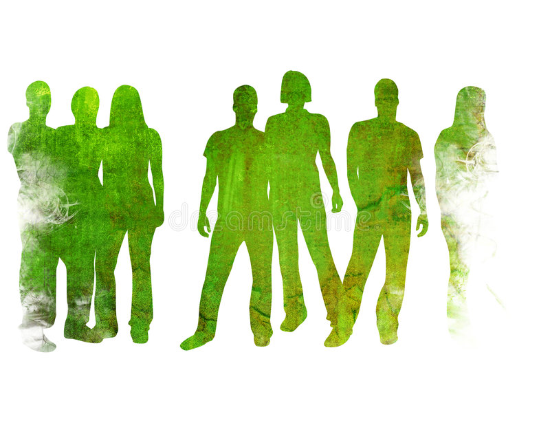 People. Textures style of people silhouettes vector illustration