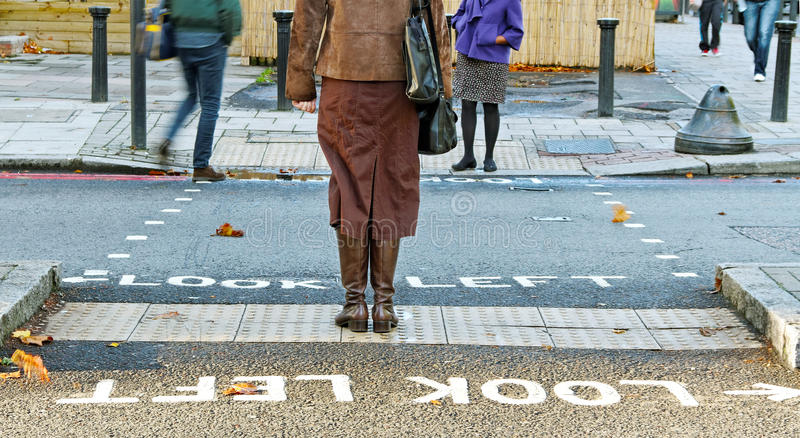 Download People across the road. stock photo. Image of british - 21979334
