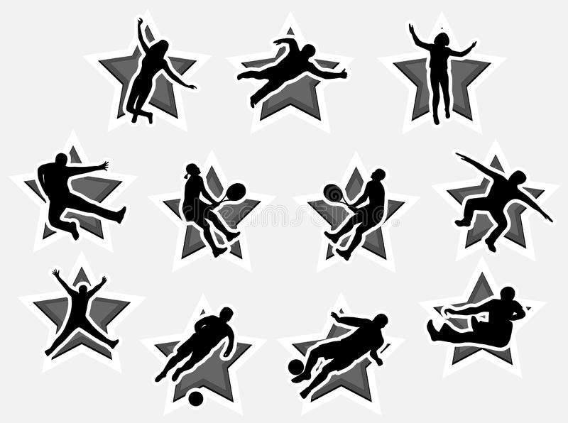 Download People in action stock vector. Illustration of black, champion - 5820244