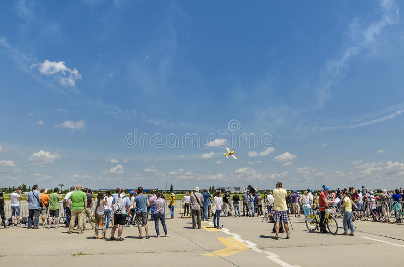 People at air show royalty free stock photography