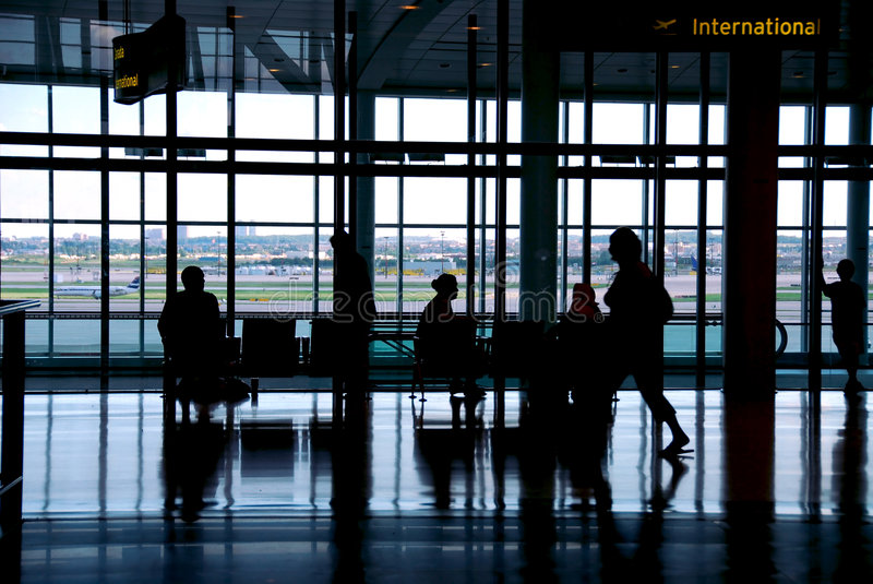 People airport stock photography