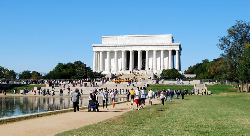 People at Alzheimer's Cure Fund Raising Walk in Washington DC USA stock images