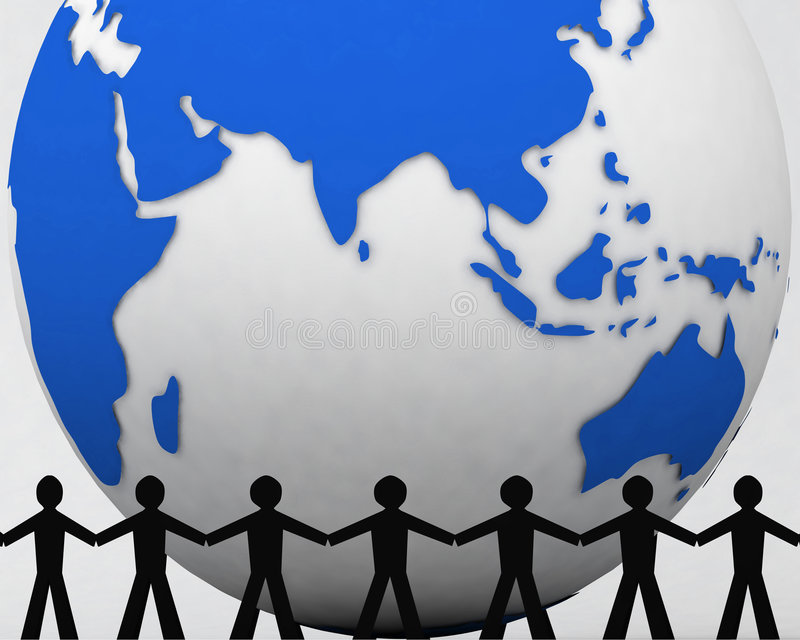 Download People Around Globe 001 Stock Photography - Image: 1411422