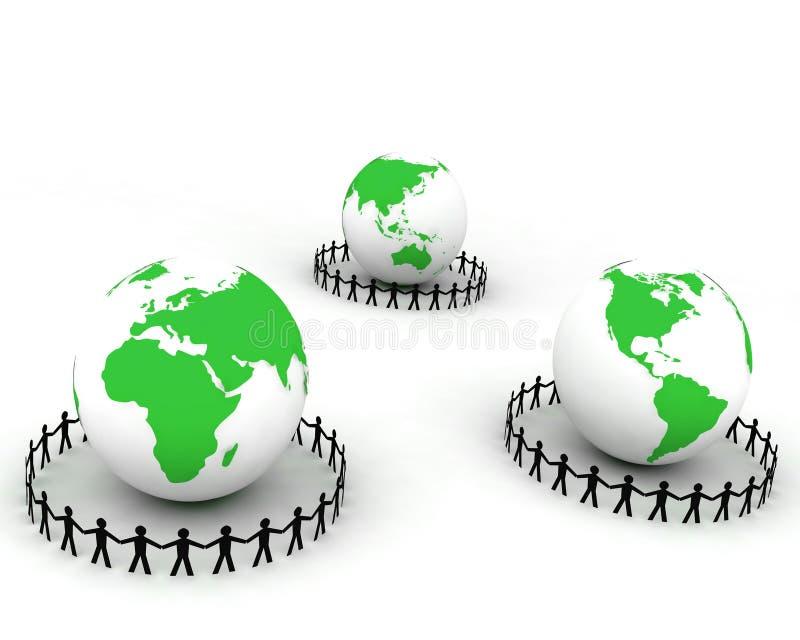 People around globe 005