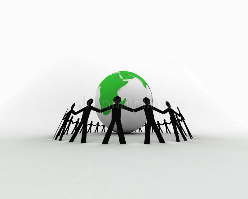 Download People around globe 008 stock illustration. Image of abstract - 1411958