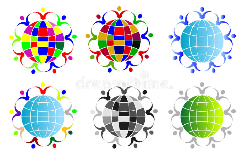 Download People around the globe stock illustration. Illustration of friends - 35007732