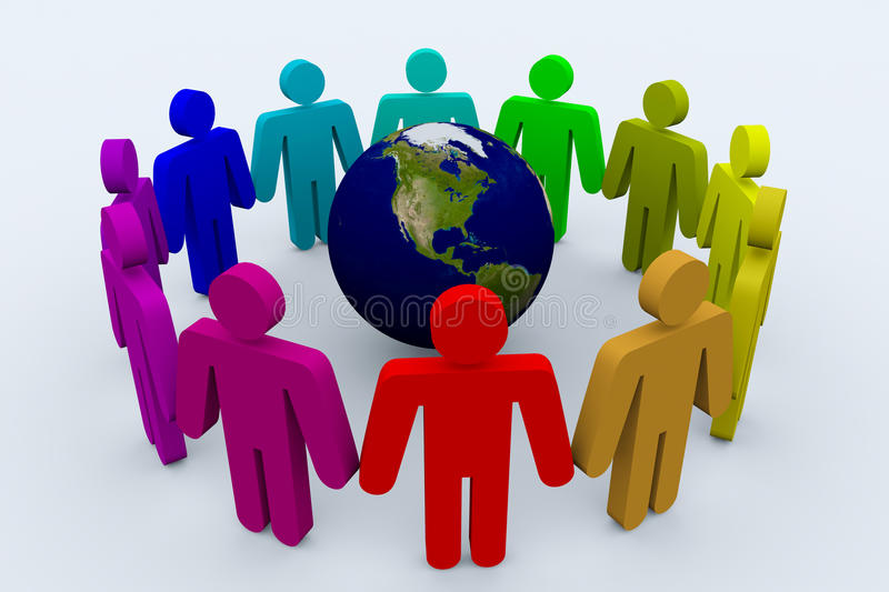 People around the world. Holding hands vector illustration