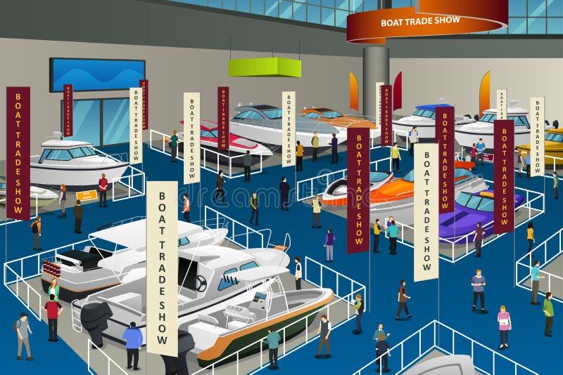 People Attending Boat Show Illustration. A vector illustration of People Attending Boat Show vector illustration
