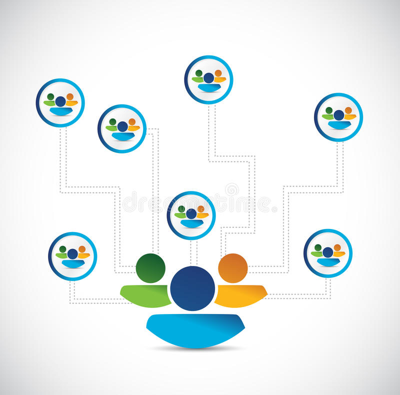 People Avatar Network Connection Diagram Stock Illustration ...