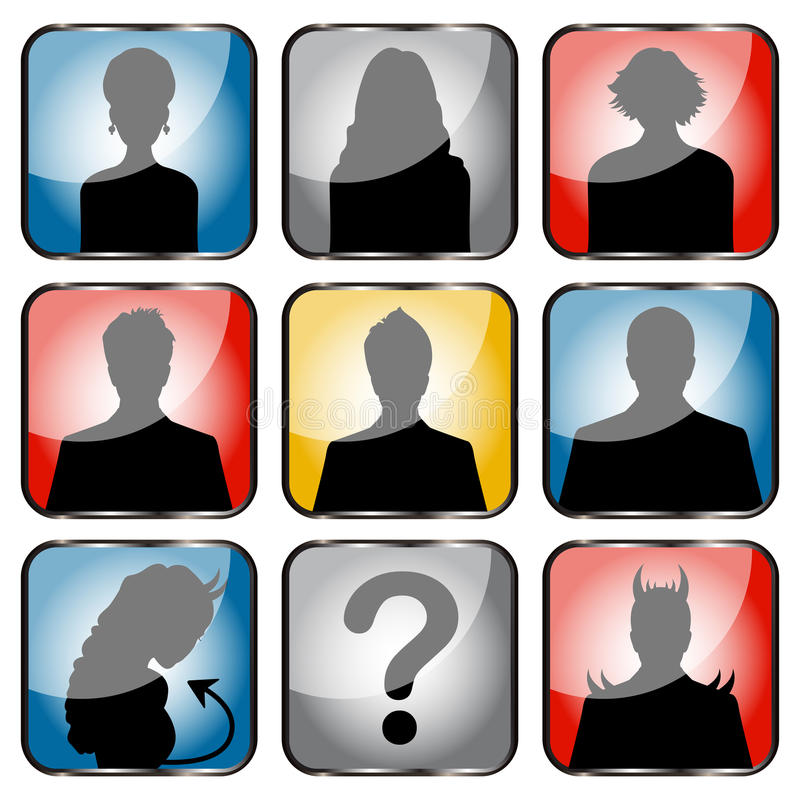 Download People avatars stock vector. Image of tracing, face, front - 25632933