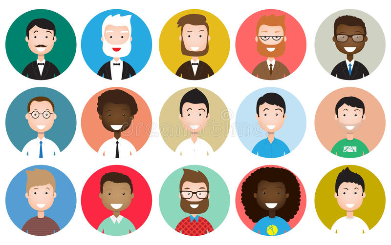 People avatars collection vector illustration