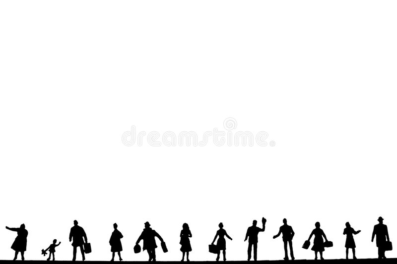 People background. People going about their business on a white background royalty free stock photography