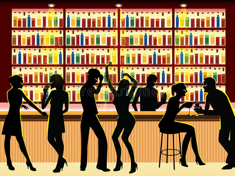 People In Bar Royalty Free Stock Photos