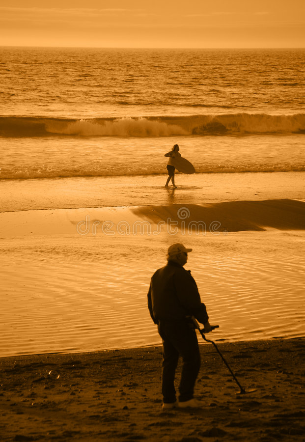 People at the Beach royalty free stock photo
