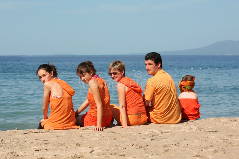 People on the beach royalty free stock photos