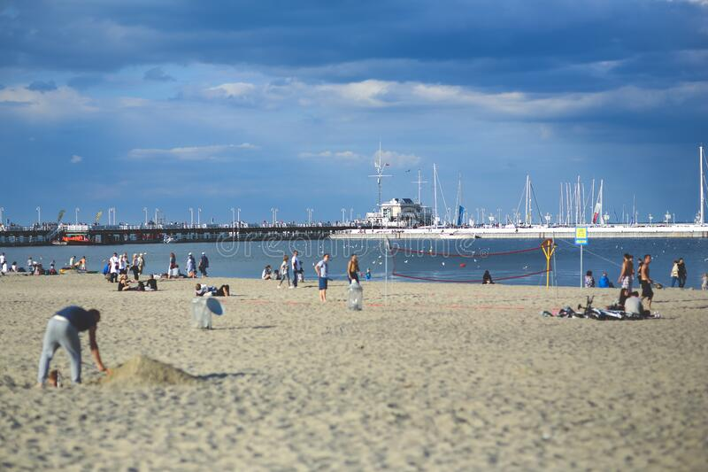 People On The Beach. Pier & Marina Free Public Domain Cc0 Image