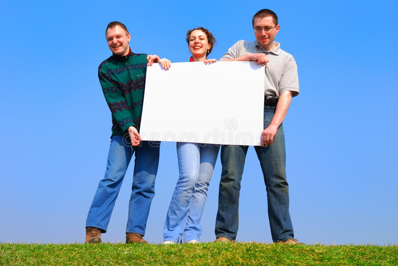 Download People With With Blank Sheet Stock Photo - Image: 2224646