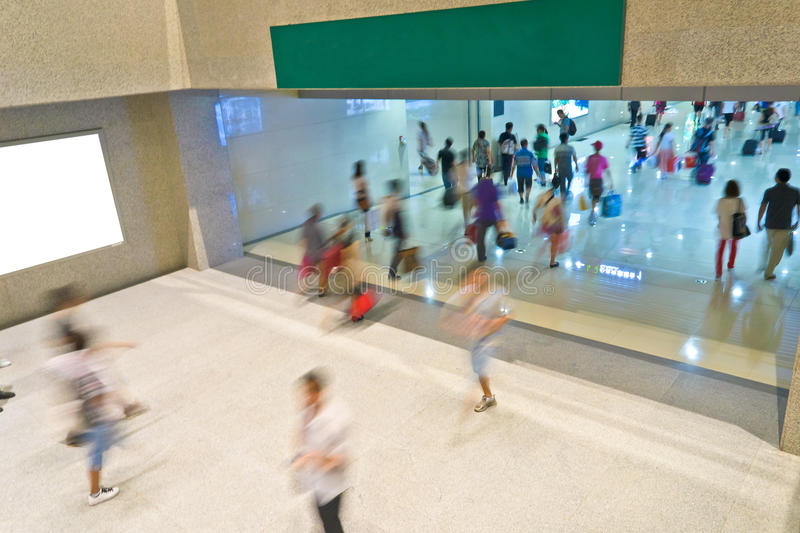 People blur motion royalty free stock photo