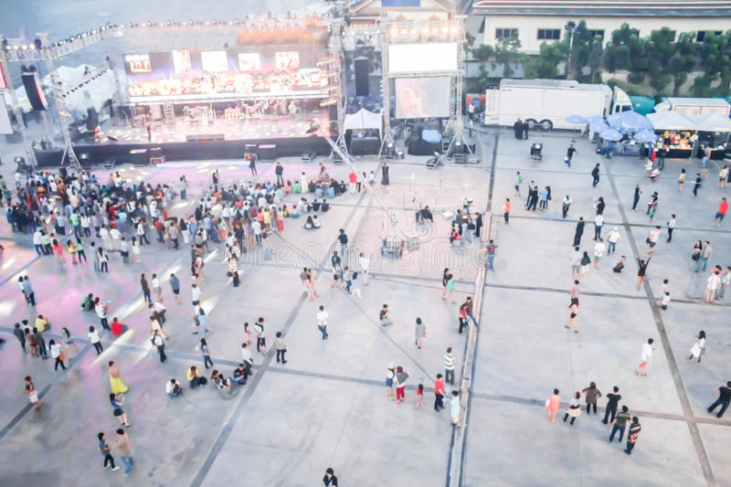 People blurred from top view,crowd of people bird eye view royalty free stock image