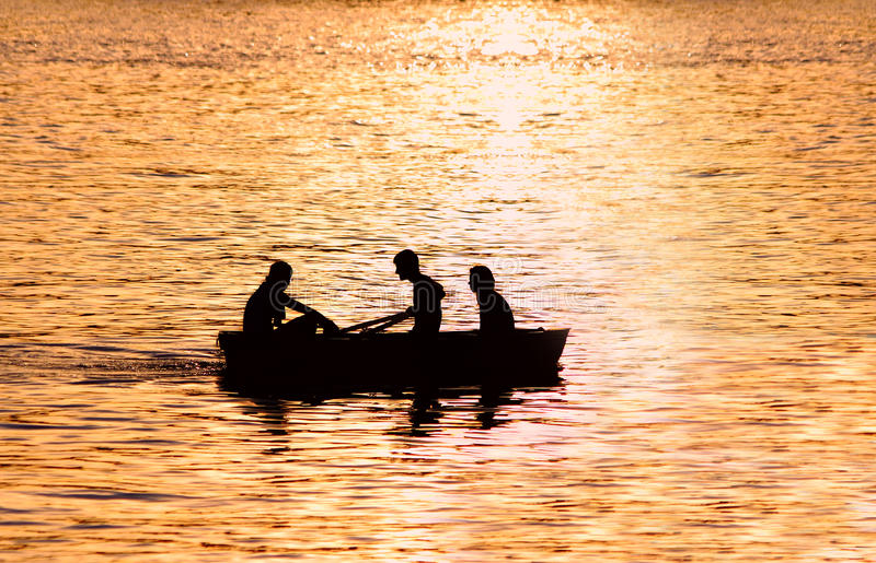 People In Boat Stock Photography