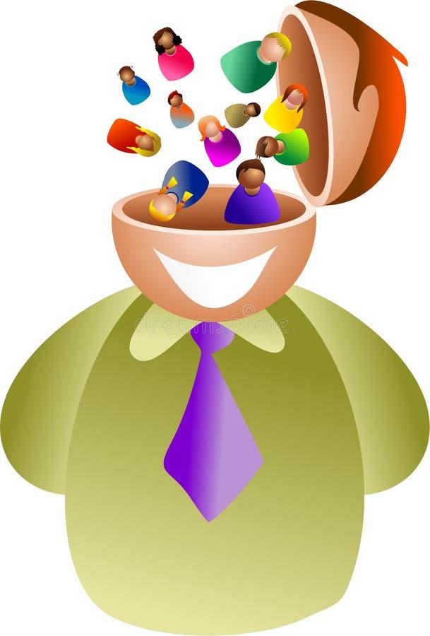 People brain vector illustration