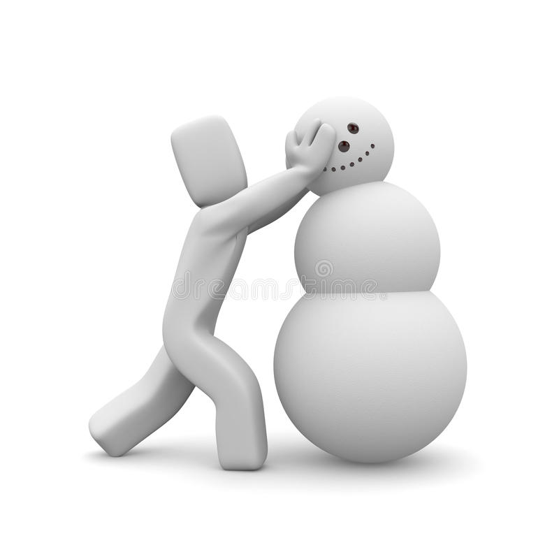 Download People build the snowman stock illustration. Image of illustration - 16953982