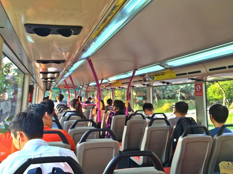 People on bus royalty free stock photo
