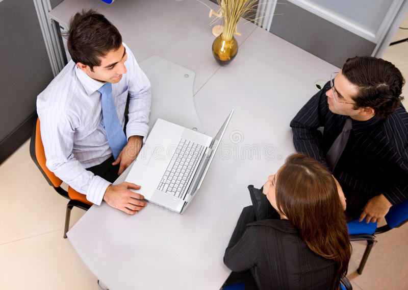 Download People In A Business Meeting Stock Image - Image of meeting, notebook: 12390969
