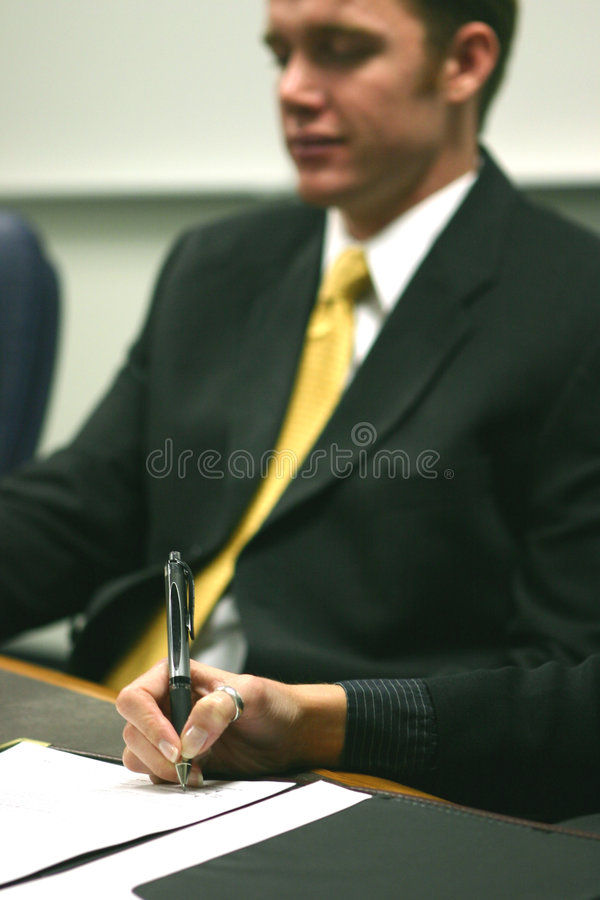People in a business meeting stock photography
