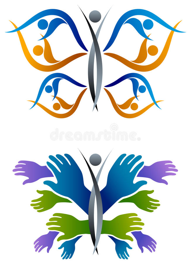 People butterfly stock illustration