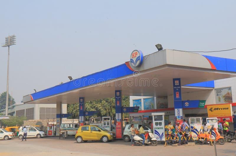 HP Petrol gas station New Delhi India stock photo