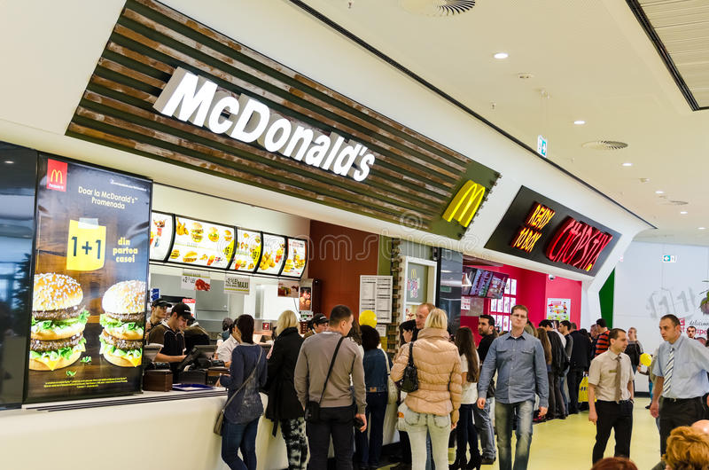 People Buying Fast Food stock images