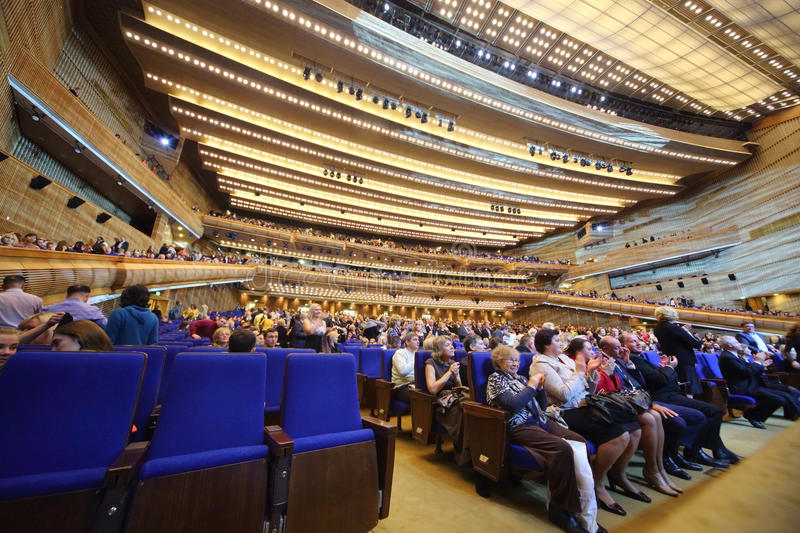 People came to the show Judgment Day royalty free stock photography