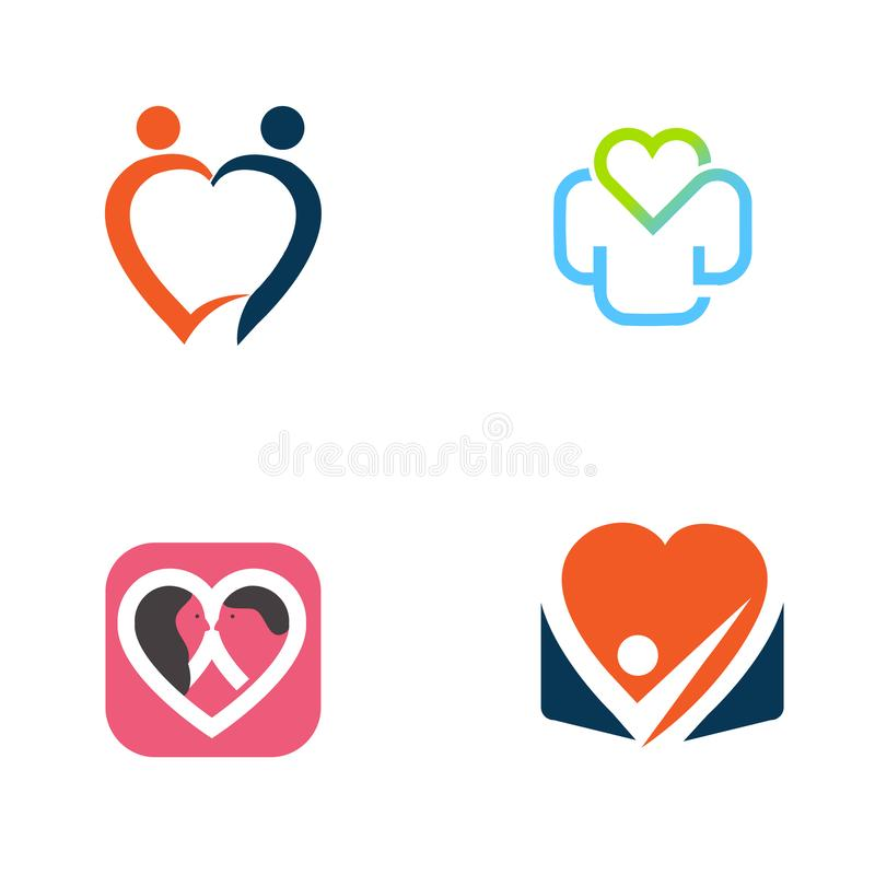 People care logo designs, hospital symbols vector illustration